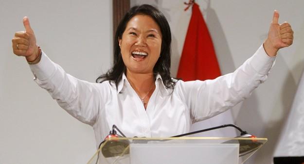 Keiko Fujimori gana elecciones.