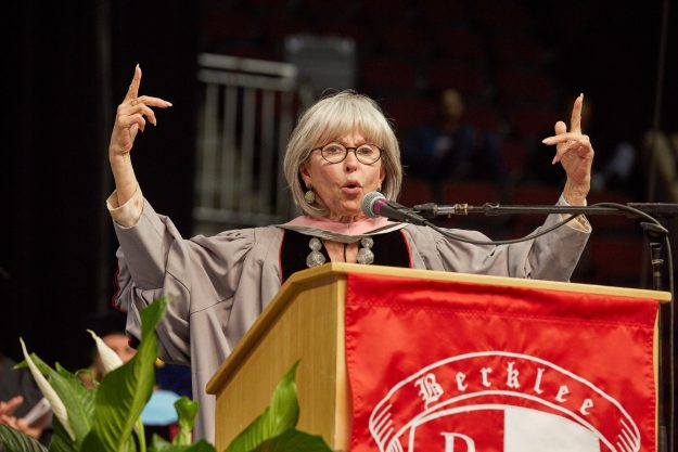 Moreno was honored by the Berklee College of Music with an honorary doctorate and also delivered the commencement address to the prestigious music institution's graduating class of 2016. Photo: Kelly Davidson.