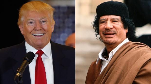 """""""Yo hice negocios con Muamar Gadafi, disculpe. Le alquilé un terreno. Me pagó más por una noche que lo que valía ese terreno en un año o dos"""", dijo Donald Trump en el 2011 (Foto: Reuters)."""