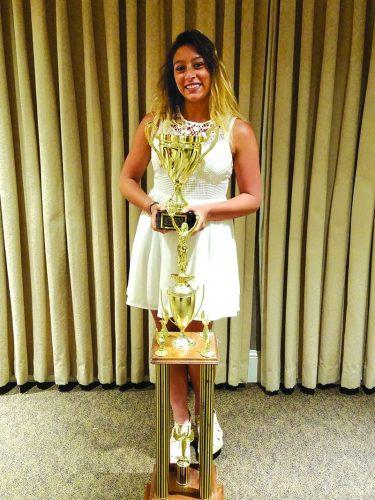 ➥➥ Pamela Sepulveda, feliz por sus nuevos triunfos que coronan sus sueños de estudiante de High School.