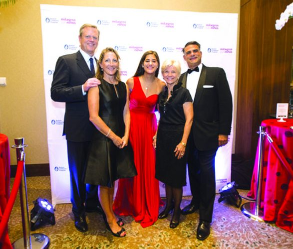 ➥➥ Great Event: MA Governor Charlie Baker from left, First Lady Lauren Baker, Nicole Kouri, Sandra Fenwick, CEO and President of Boston Children's Hospital and Juan Kouri at the 7th annual Milagros Para Niños Gala.