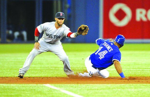 ➥➥ Viaje a Canadá: Dustin Pedroia y los Red Sox en Toronto este fin de semana.