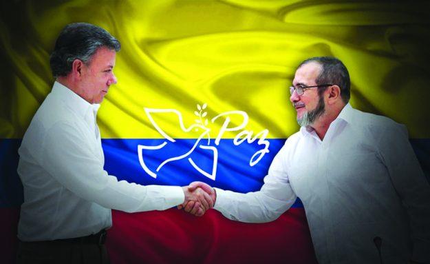"""➥➥ El Presidente de Colombia, Juan Manuel Santos y Rodrígo Londoño """"Timochenko"""" firmaron oficialmente la paz en Cartagena el pasado 26 de septiembre."""