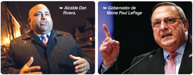Alcalde Rivera y gobernador de Maine