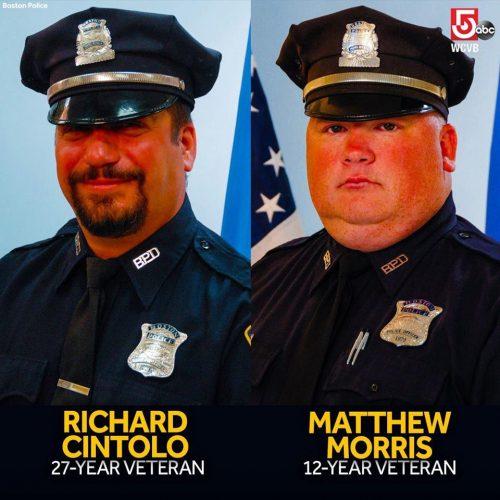 Oficiales heridos en balacera Richard Cintolo y Mitt Morris.