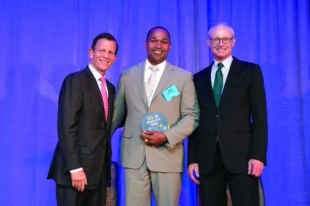 Congratulations to Guardian Health Care. In the picture from left to right: Steve Grossman, CEO of ICIC, Jose de la Rosa, President and CEO of Guardian Health Care, Michael E. Porter, University Professor, Harvard Business School and Founder of ICIC.