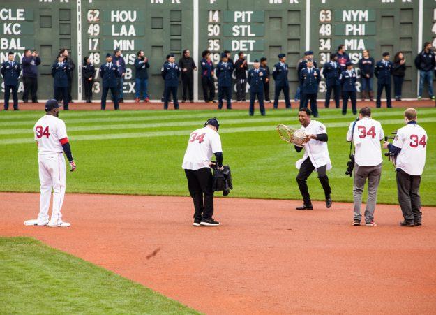 Pedro Martínez lideró el grupo de integrantes de los equipos campeones de Boston. Foto: Alex Zelaya.