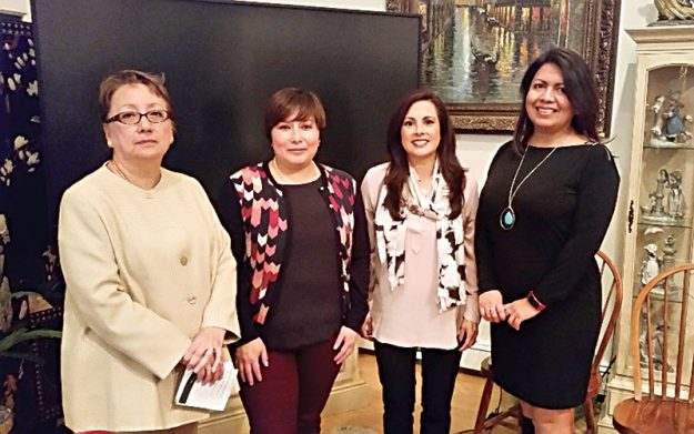 Nueva directiva de AENI. De izquierda a derecha: María Nyren, tesorera; Alexandra Serrano, presidenta; Mónica Crespo, vicepresidenta y Rocío Tacuri, secretaria.